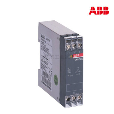 ABB CM系列三相监视器;CM-PVE, 1no, w/neutral mon, 185-265VAC