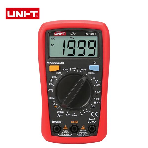 优利德 掌上型数字万用表 600V;UT33D+