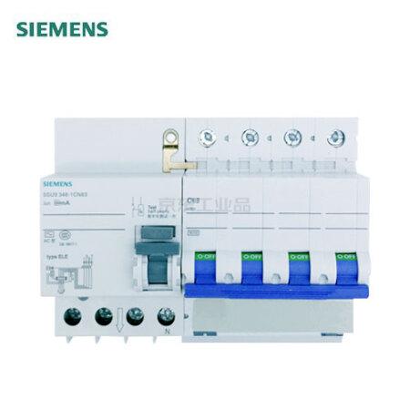 西门子 电子式剩余电流保护断路器,18个/箱;5SU9/SN AC 30 mA 4P 6KA C20
