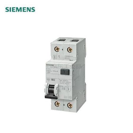 西门子 电磁式剩余电流保护断路器;5SU1 电磁式 AC 30mA 1P+N B25 10KA