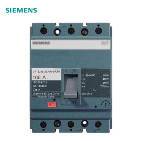 西门子 塑壳断路器;3VT160 N100 TMF F/3P
