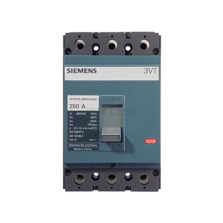 西门子 塑壳断路器;3VT250A N250A TMF F/4P