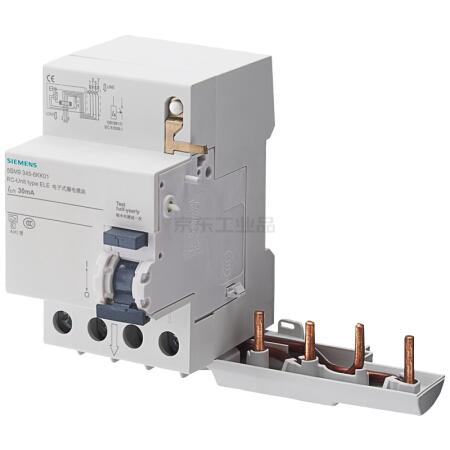 西门子 电子式剩余电流模块 5SM9 电子式 AC 300mA 4P 40A;5SM9 电子式 AC 300mA 4P 40A