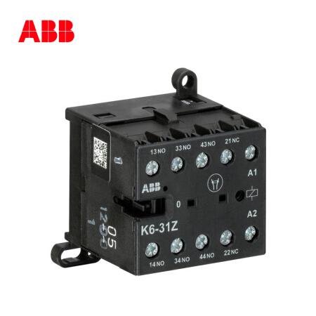 ABB 交流中间继电器-K型;K6-31Z*110-127V 40-450Hz