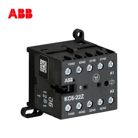 ABB 直流线圈中间继电器,10个/盒;KC6-22Z*220V DC
