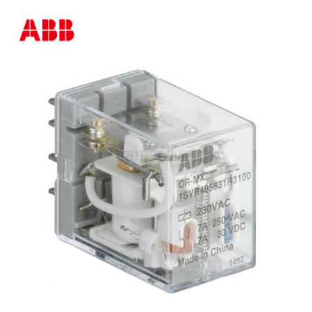 ABB 通用微型插拔式接口继电器;CR-MX024DC2L