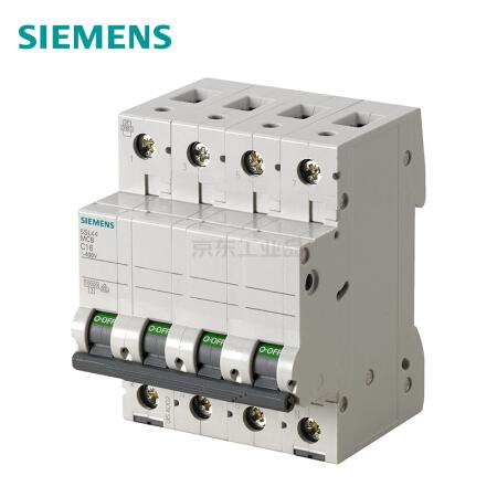 西门子 微型断路器;5SL4 4P C63