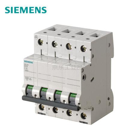 西门子 微型断路器;5SL6 4P C50